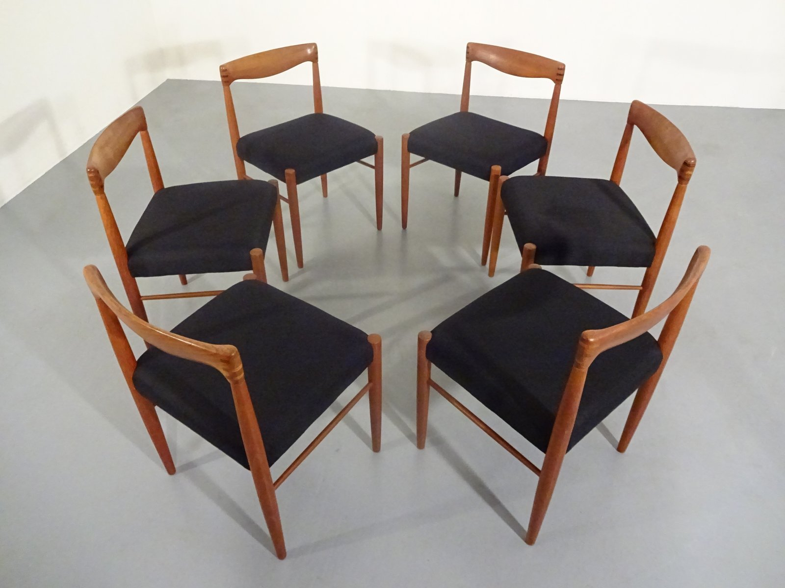 Danish Teak Dining Chairs by H. W. Klein for Bramin, 1960s ...