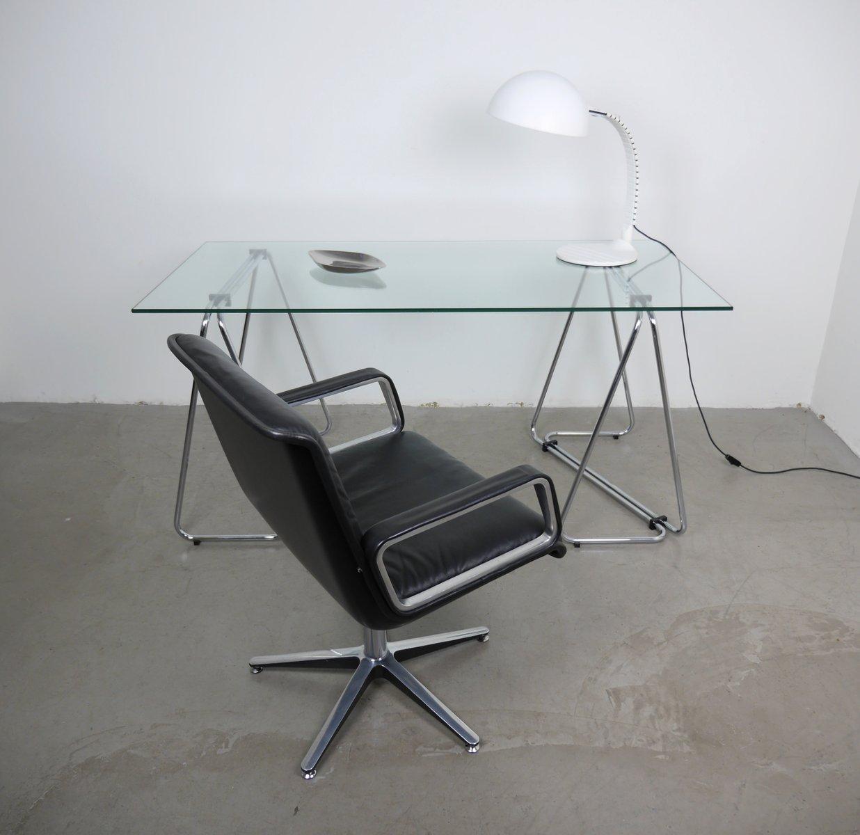Schreibtisch Metall Glas 2021