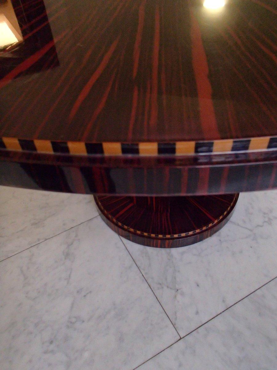 Table Et Chaises De Salle à Manger En Cuir Rouge, 1980s