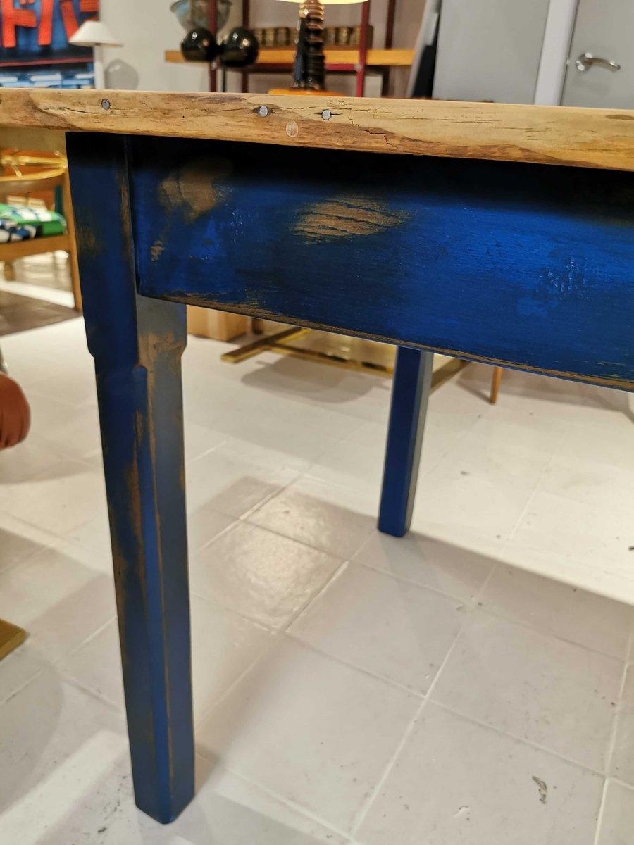 Table De Salle à Manger Bleue En Vente Sur Pamono