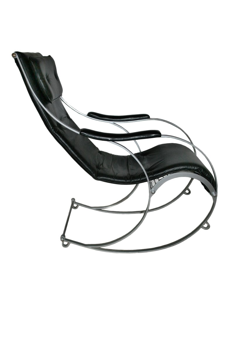 Wrought Iron Rocking Chair By Peter Cooper For R.W. Winfield U0026 Co, 1850