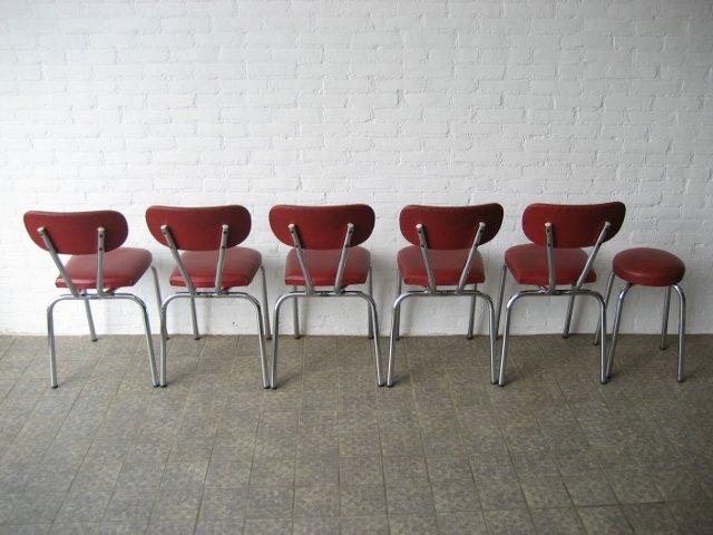 chaises de salon et tabouret vintage en vente sur pamono. Black Bedroom Furniture Sets. Home Design Ideas