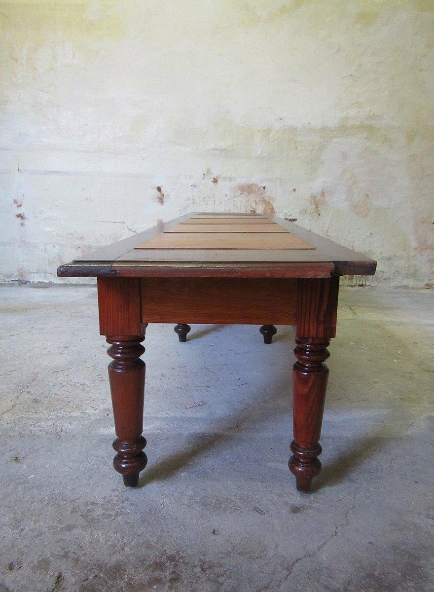 vintage holz bank aus belgien 1920er bei pamono kaufen. Black Bedroom Furniture Sets. Home Design Ideas
