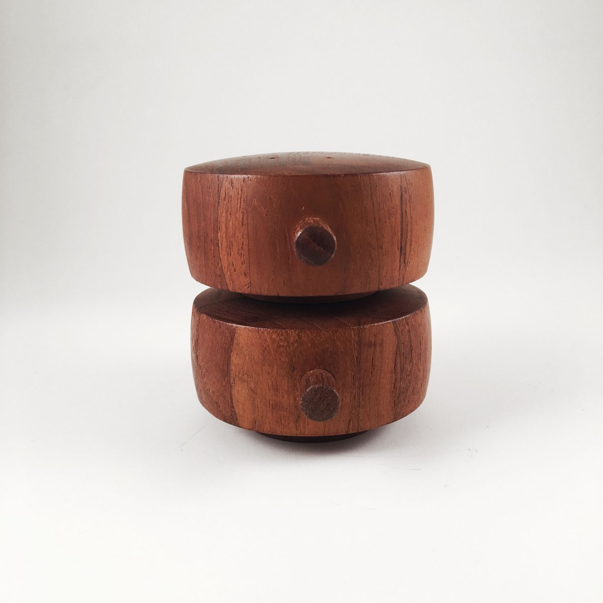 from the famous danish company Raadvad Scandinavian classic design Midcentury danish vintage salt and pepper mill made in teak wood