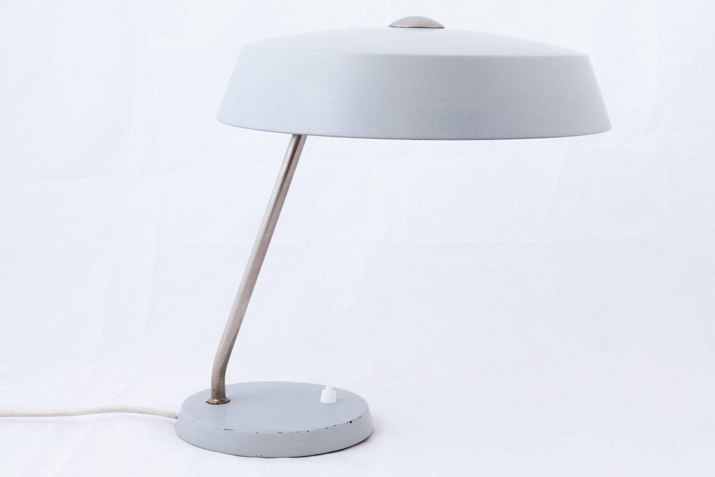 Graue Tischlampe von Philips, 1950er