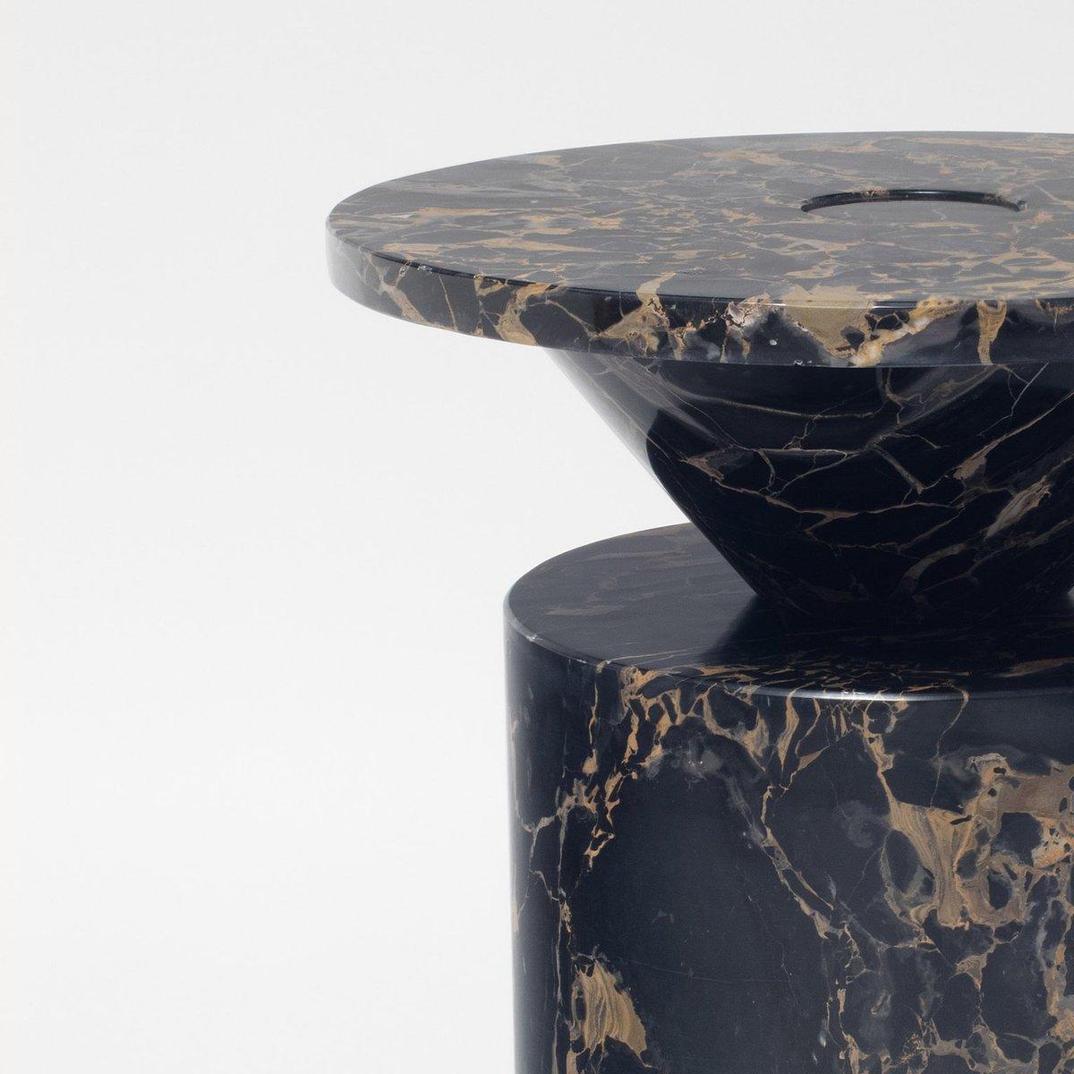 Marble Coffee Table Hk: Totem Coffee Table In Portoro Nero Marble By Karen