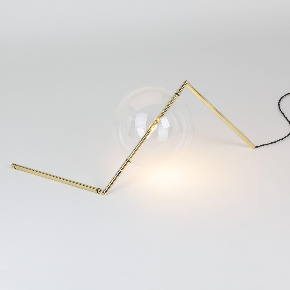 Alpina Tischlampe aus poliertem Messing von SilvioMondinoStudio