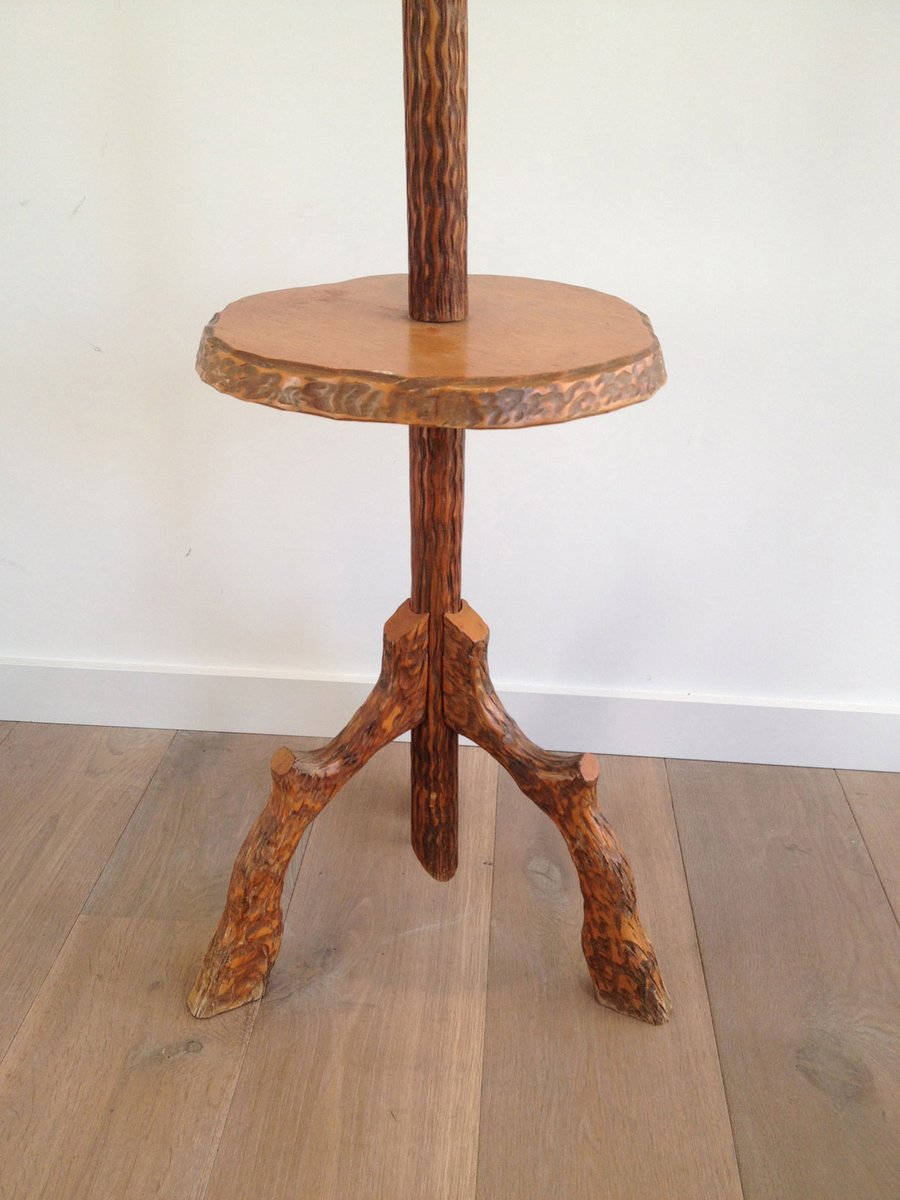 Vintage Wooden Faux-Bois Floor Lamp for sale at Pamono