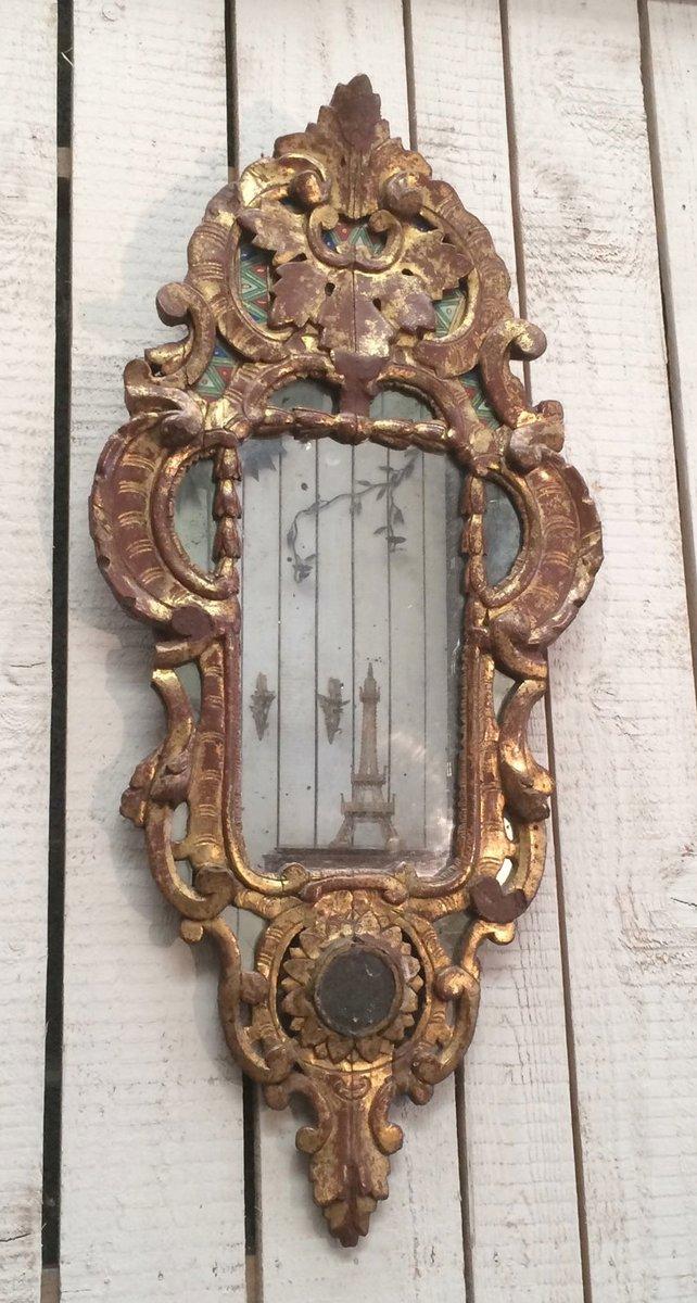 Specchio antico rocaille in legno dorato in vendita su pamono - Specchio dorato antico ...