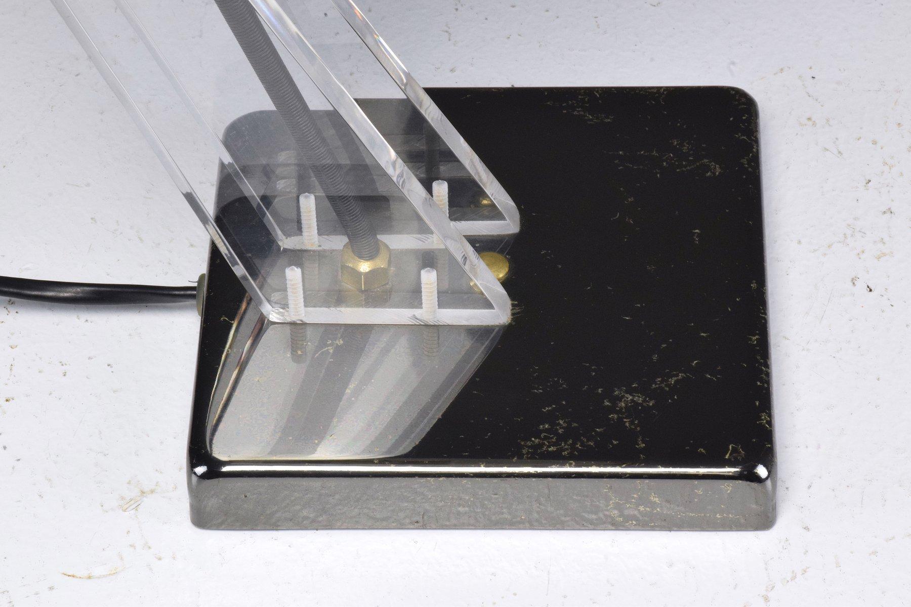 Französische Mid-Century Plexiglas Lampe