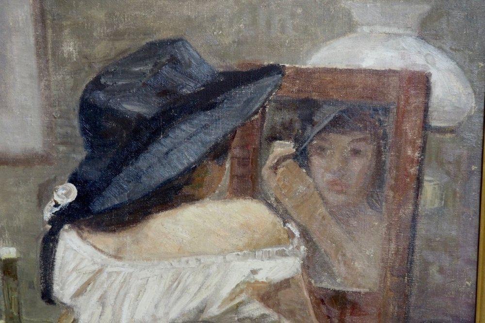 Olio Antico Impressionista Dipinto Su Tela In Vendita Su Pamono
