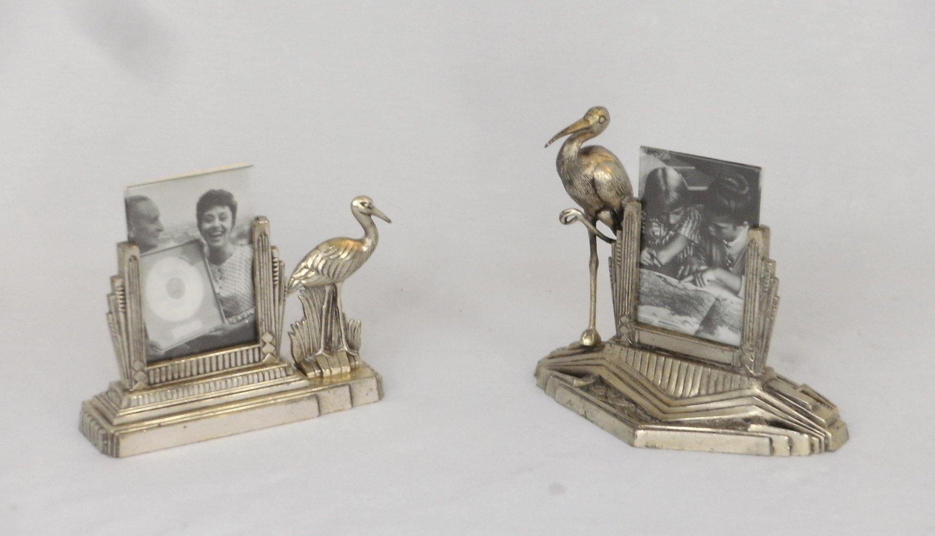 Französische Vintage Art Deco Fotorahmen, 2er Set bei Pamono kaufen