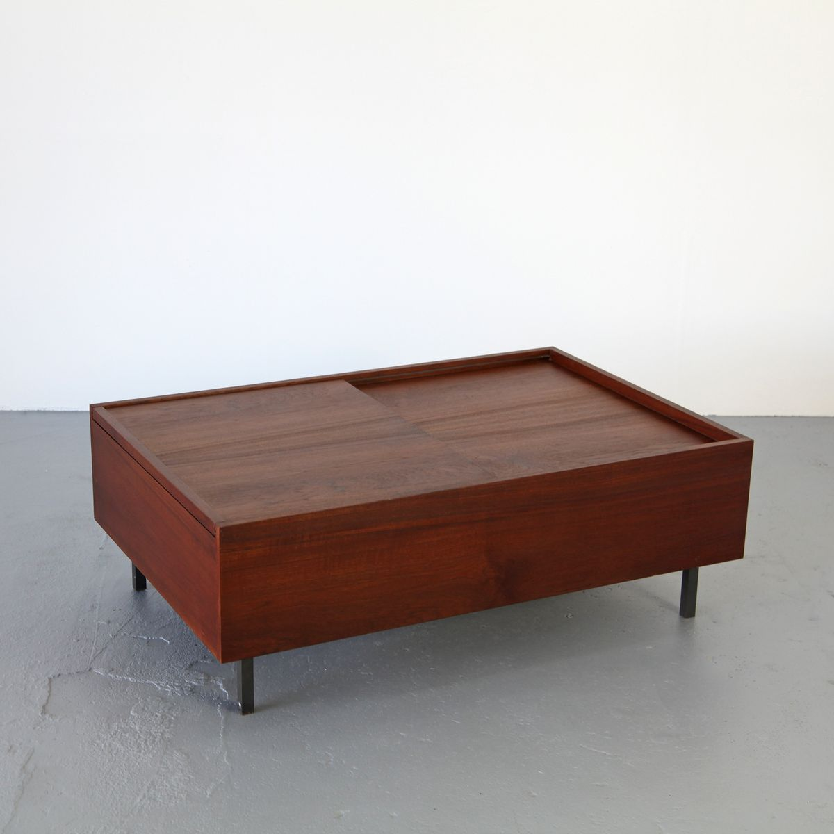 Mcm Teak Coffee Table: Mid Century Modern Teak Coffee Table With Removable Top
