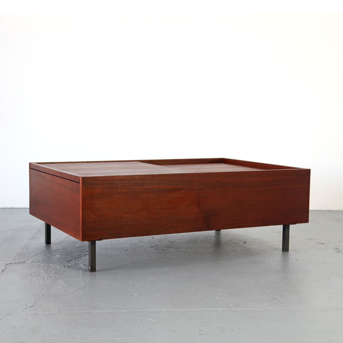 Mid Century Modern Teak Coffee Table With Removable Top