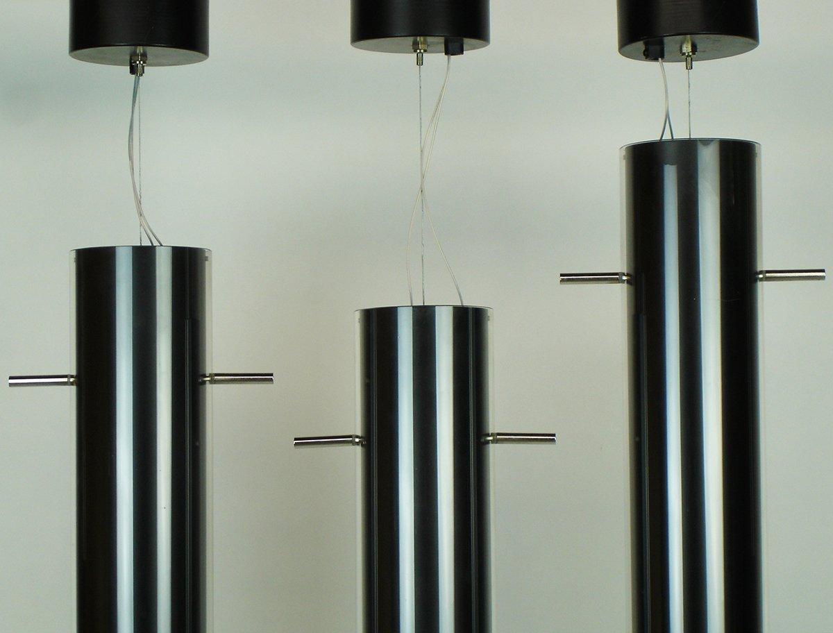 Lampade a sospensione in metallo e vetro di Davide Groppi, set di 6 ...
