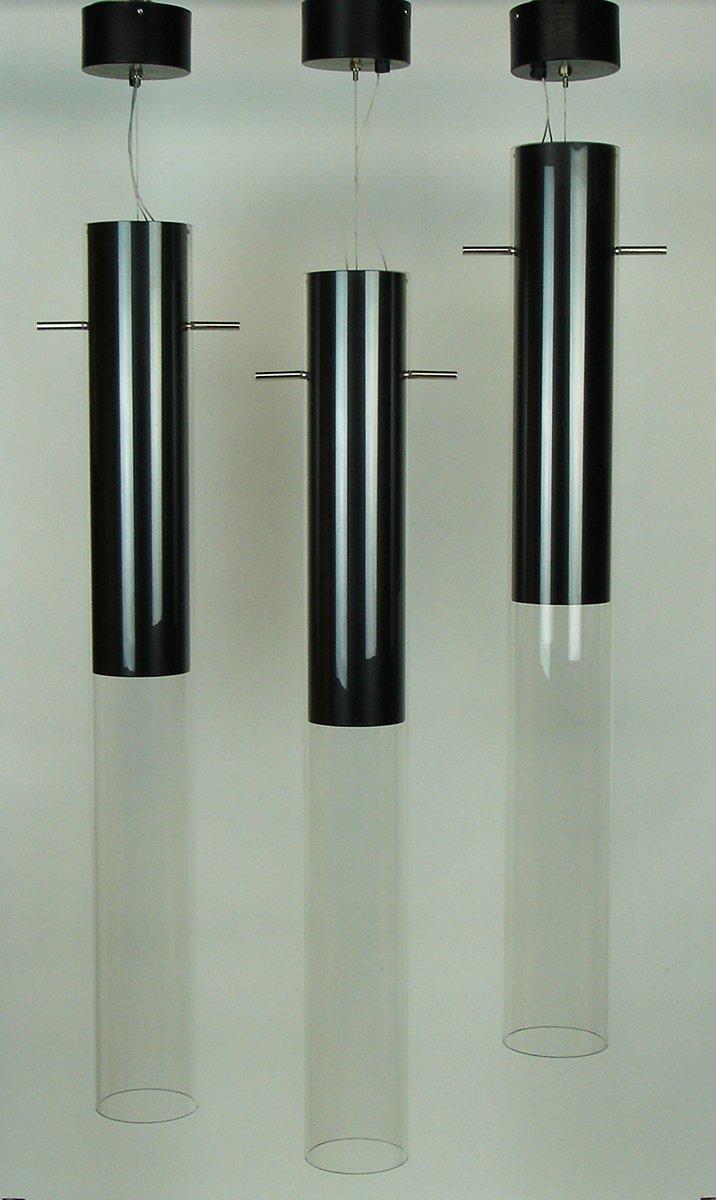 Glas und Metall Hängeleuchten von Davide Groppi, 6er Set