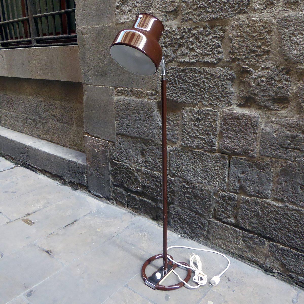Braune Schwedische Schwanenhals Lampe von Anders Pherson, 1970er