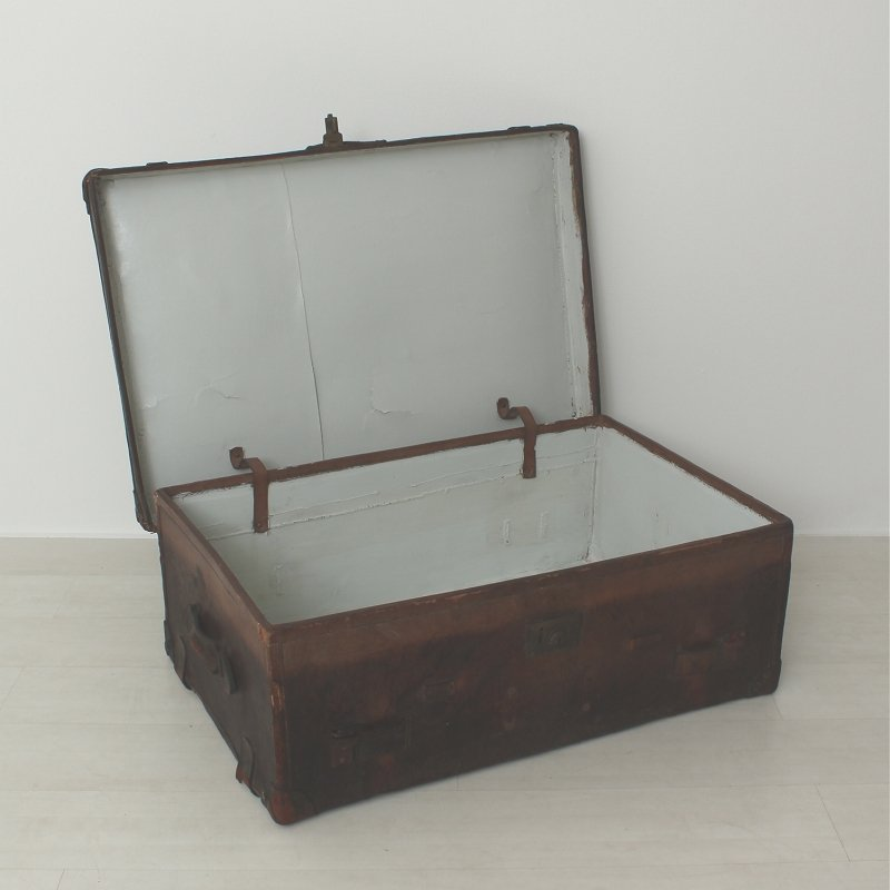 deutsche vintage leder koffer bei pamono kaufen. Black Bedroom Furniture Sets. Home Design Ideas