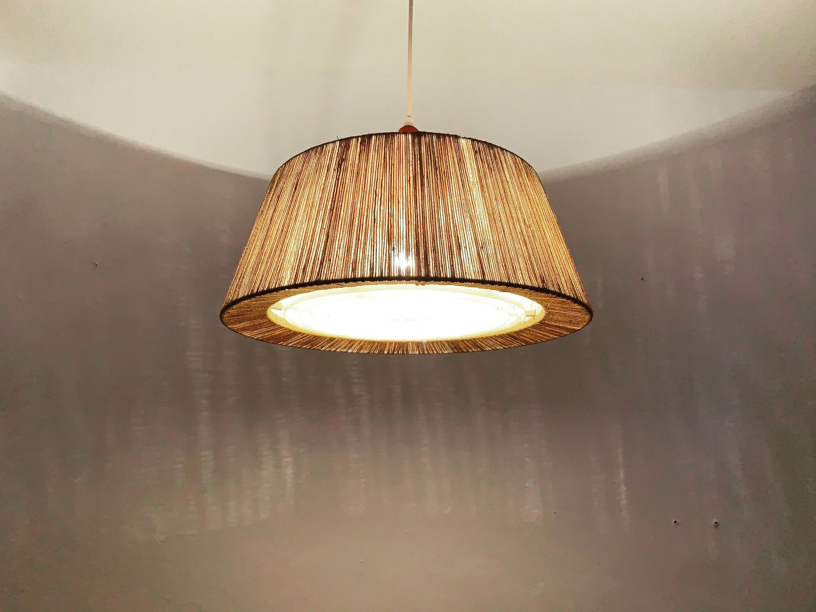 Raffia Pendant Lamp from Temde, 1960s for sale at Pamono