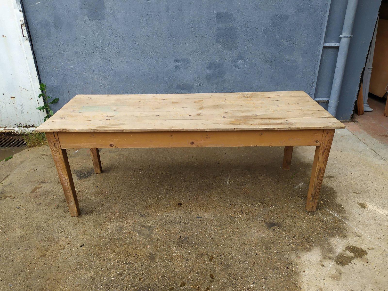 Vintage Farmhouse Table, 12s
