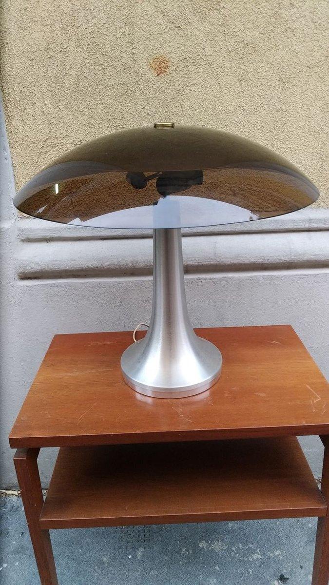 Lampada Da Tavolo In Alluminio Perspex E Bronzo Di Stilux Milano Anni 60 In Vendita Su Pamono