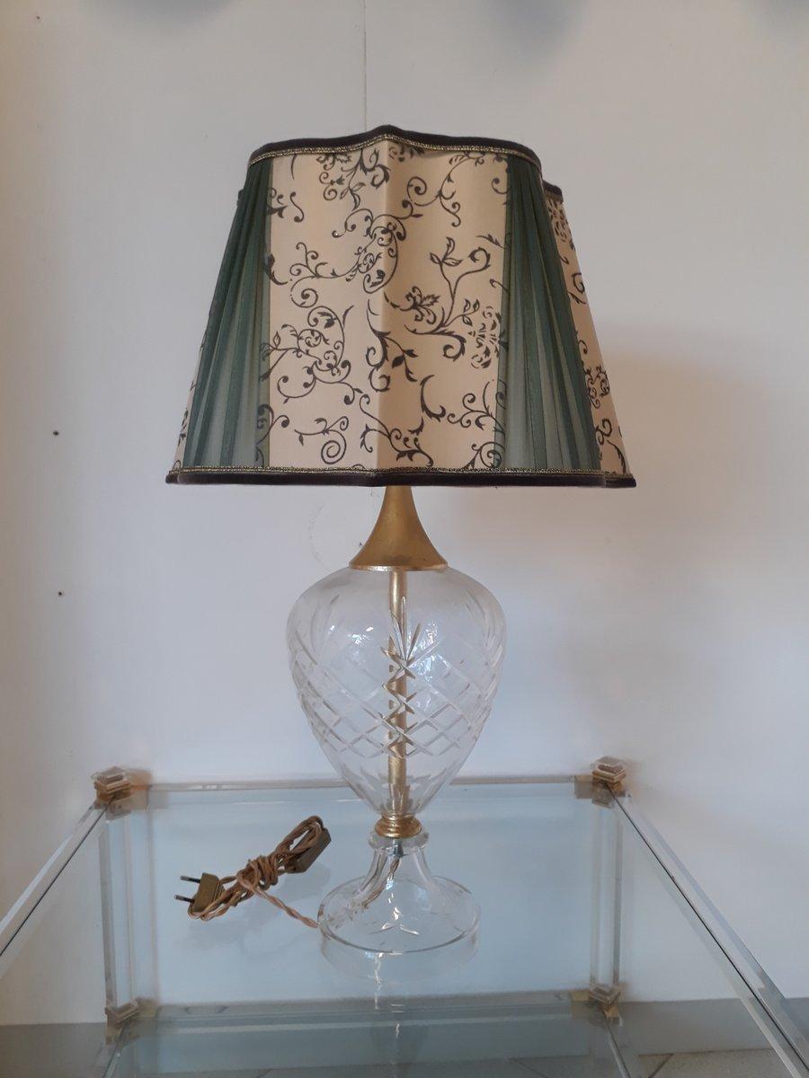 Lampada Da Tavolo Vintage In Cristallo In Vendita Su Pamono