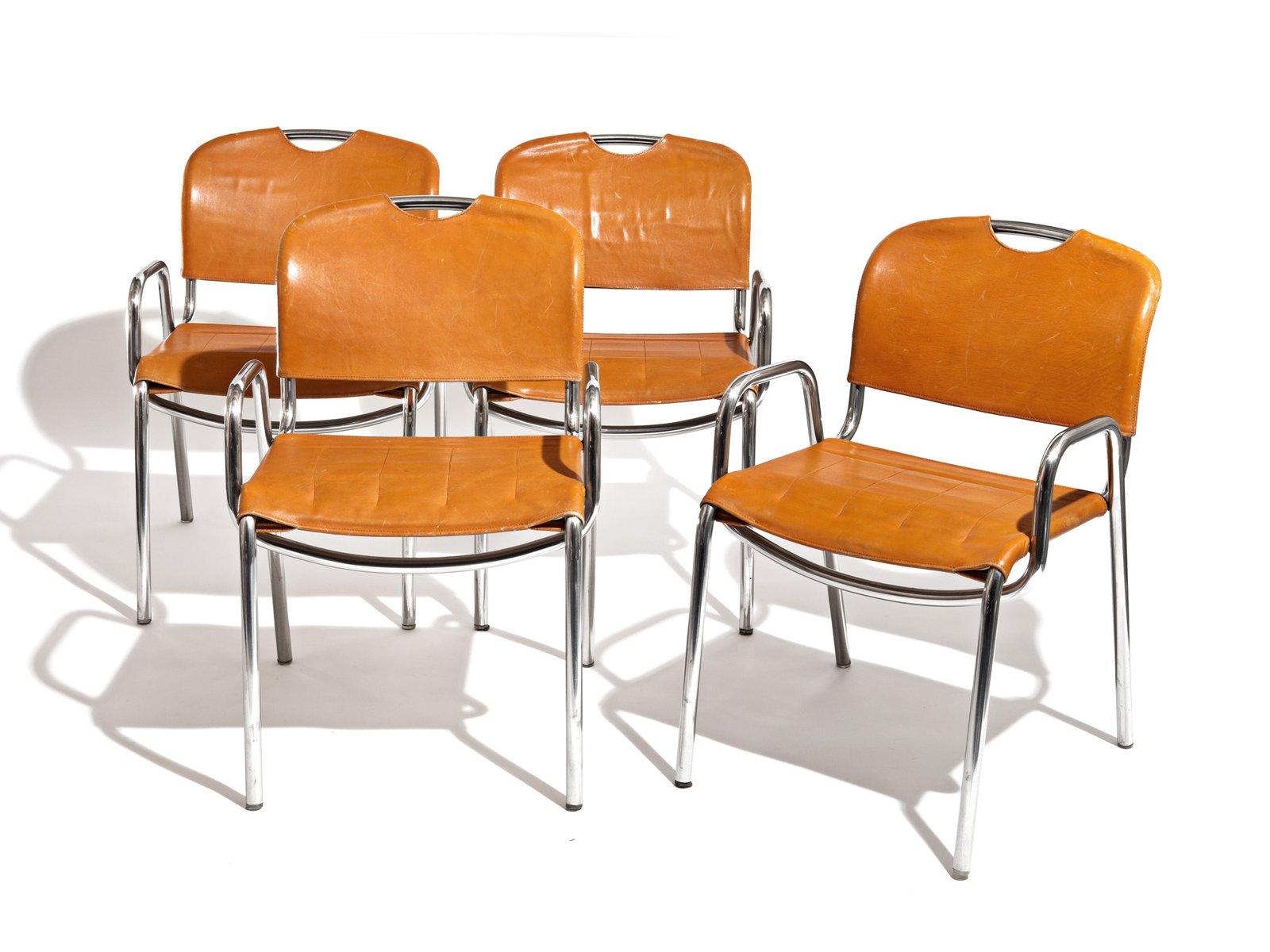 castiglia st hle von a castiglioni m minale f r zanotta 4er set bei pamono kaufen. Black Bedroom Furniture Sets. Home Design Ideas