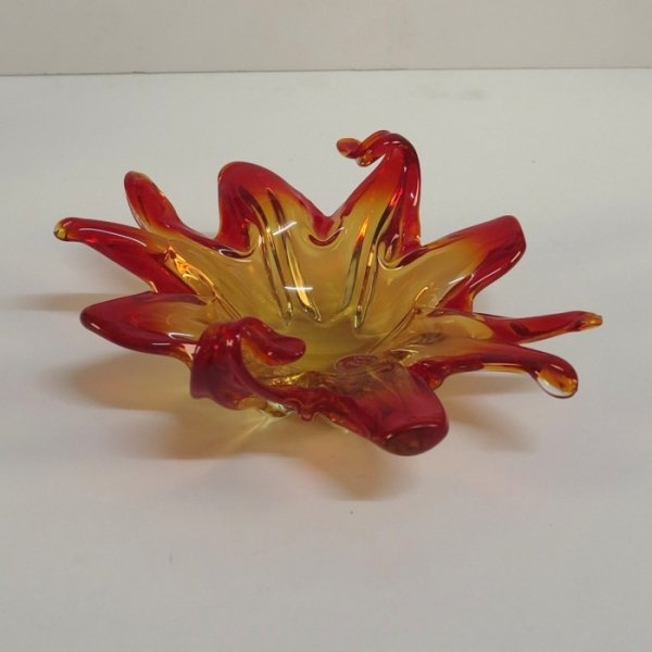 Vintage Orange Murano Glass Bowl For Sale At Pamono