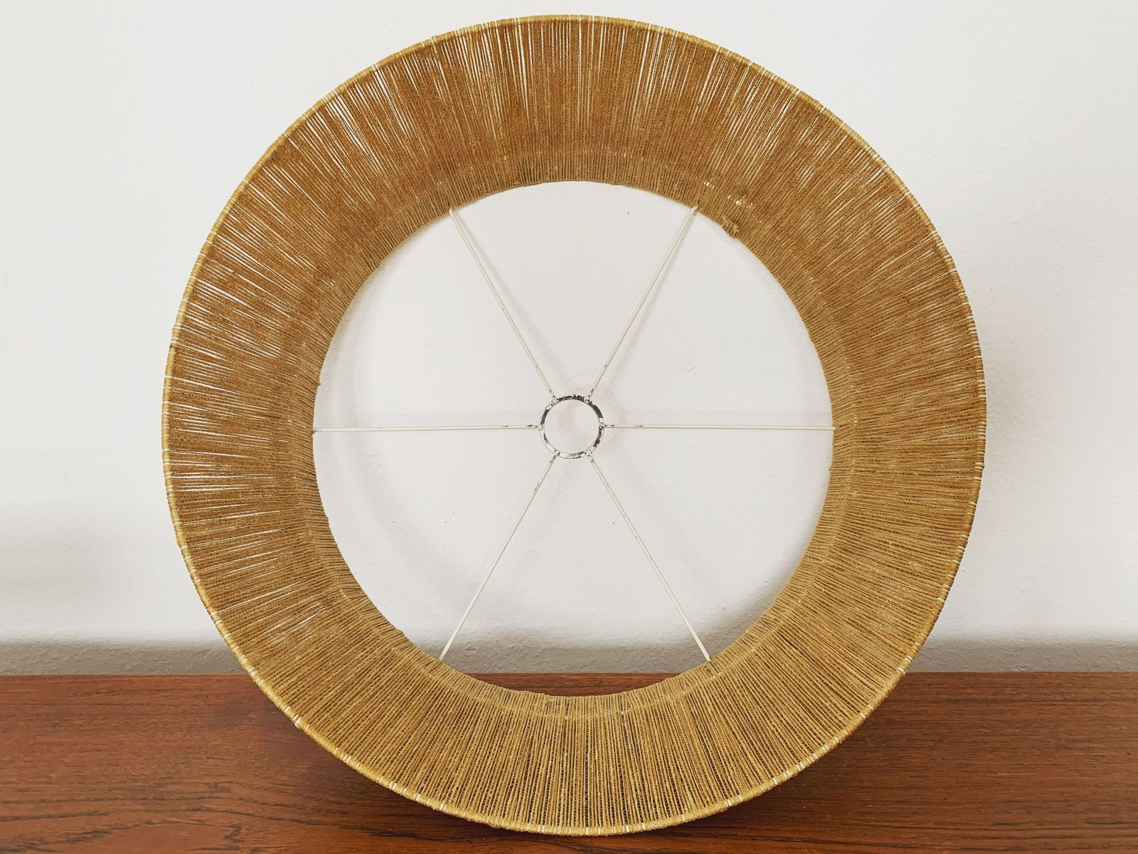 Large Raffia Pendant Lamp from Temde, 1960s for sale at Pamono