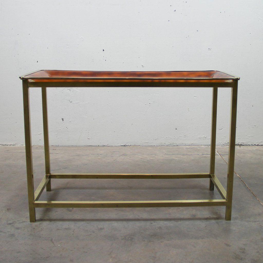 table d 39 appoint vintage en laiton italie en vente sur pamono. Black Bedroom Furniture Sets. Home Design Ideas