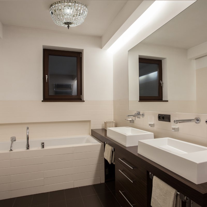Vintage Chrom Badezimmer Kronleuchter für niedrige Decken bei Pamono ...