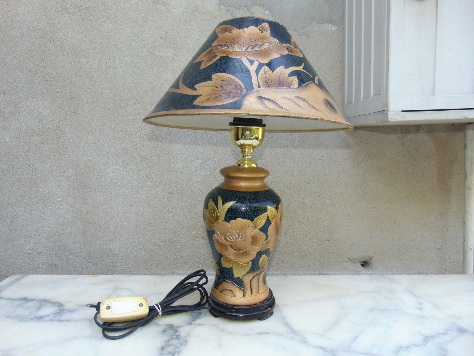 Lampada Da Tavolo Grande Vintage In Ceramica In Vendita Su Pamono