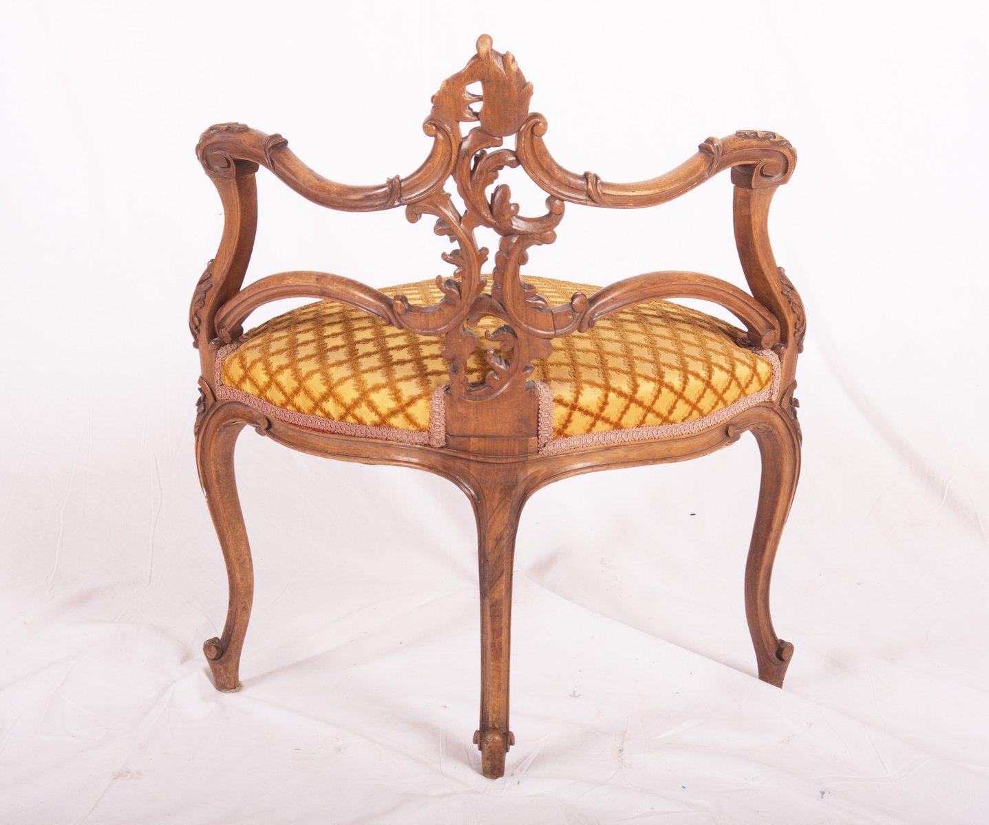 Carved Walnut French Louis XV Corner Chair, 1870 11. $1,634.00. Price Per  Piece