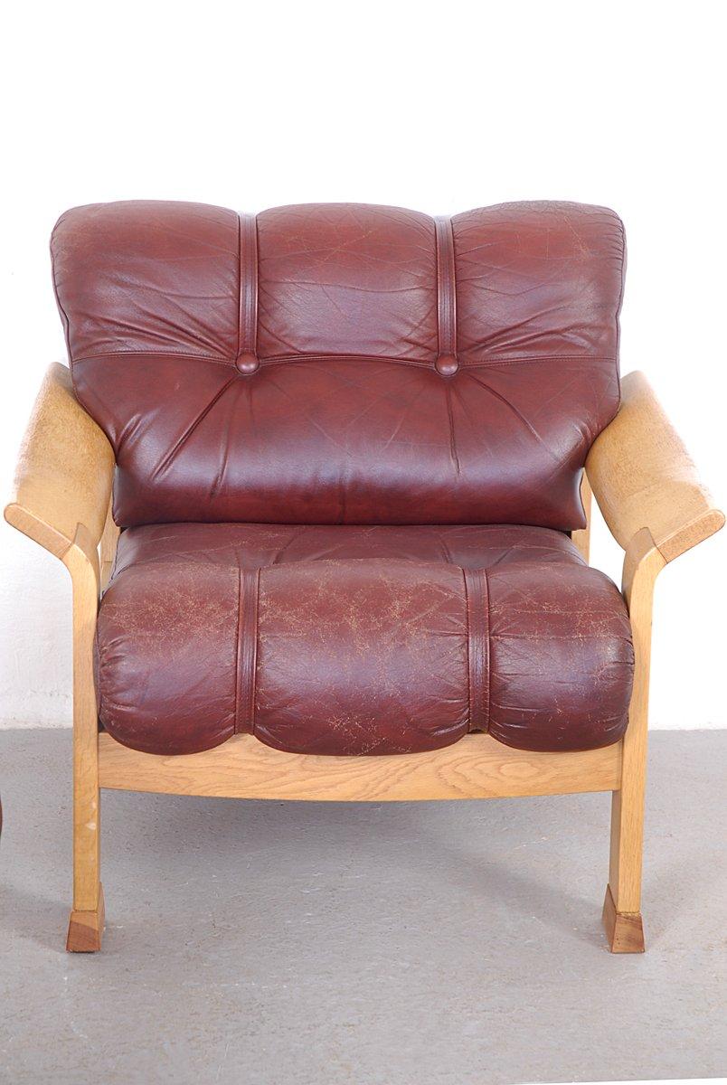 d nisches vintage 3 sitzer sofa aus braunem leder bei pamono kaufen. Black Bedroom Furniture Sets. Home Design Ideas