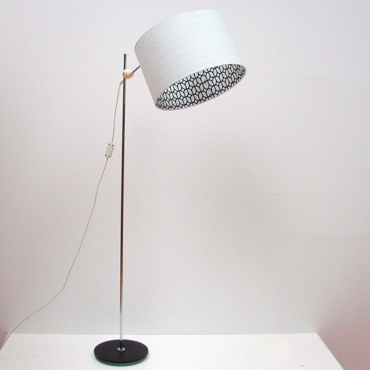 Verstellbare Mid Century Chrom Stehlampe, Deutschland