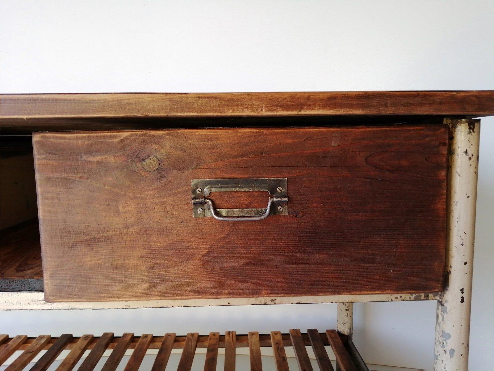 Tavolo Da Lavoro Da Cucina Vintage Industriale In Vendita Su Pamono