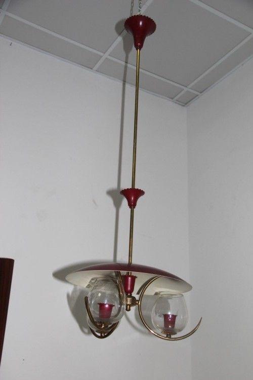Italienische Midcentury Deckenlampe