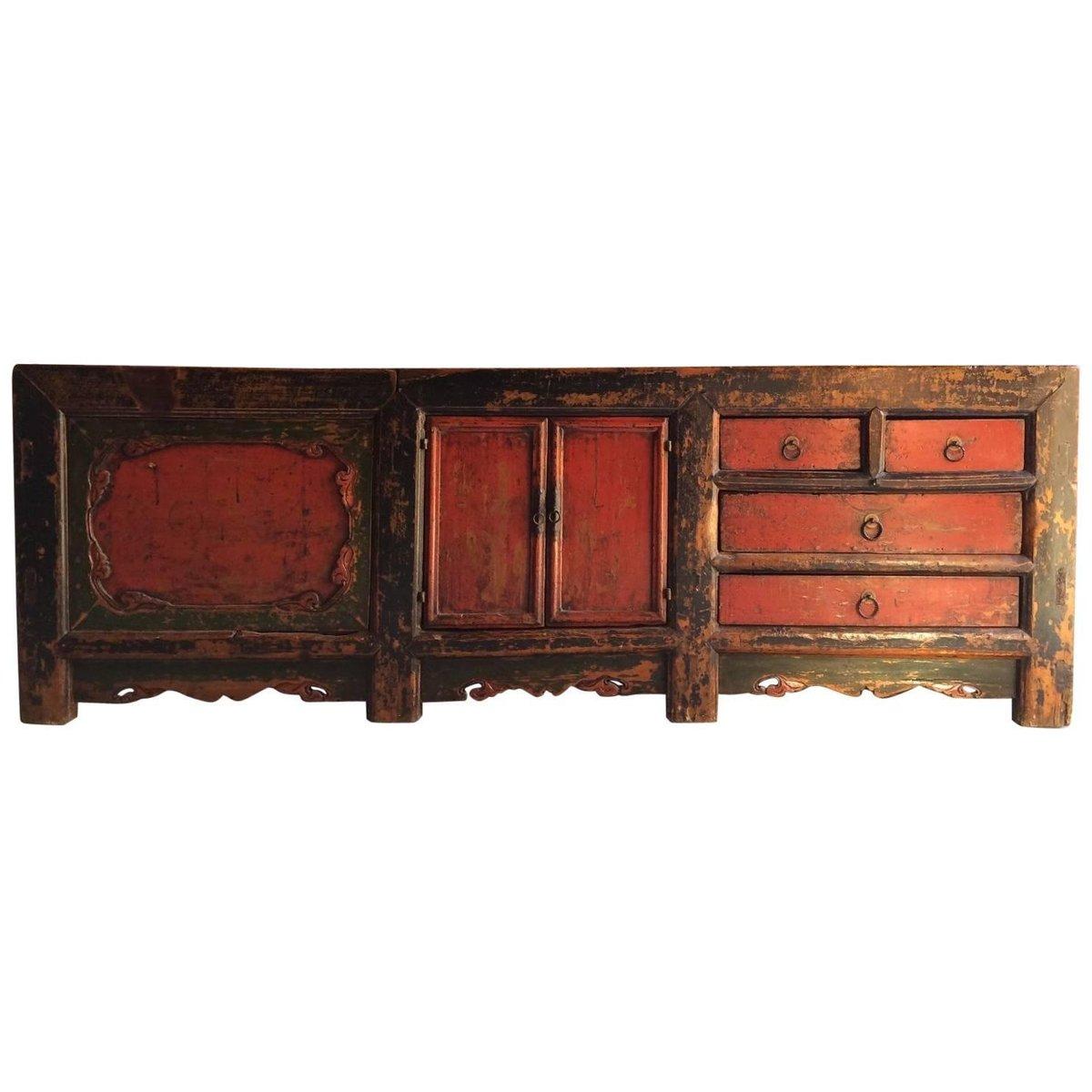 Antikes Chinesisches Getreidelager Sideboard, 1780er
