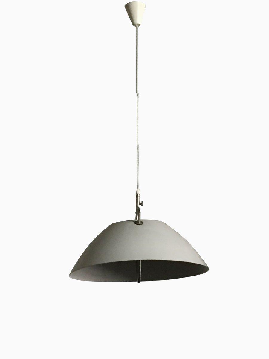 Weiße Vintage Deckenlampe von Hans J. Wegner