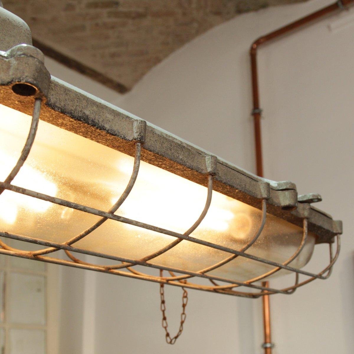 gro e industrielle metall deckenleuchte bei pamono kaufen. Black Bedroom Furniture Sets. Home Design Ideas