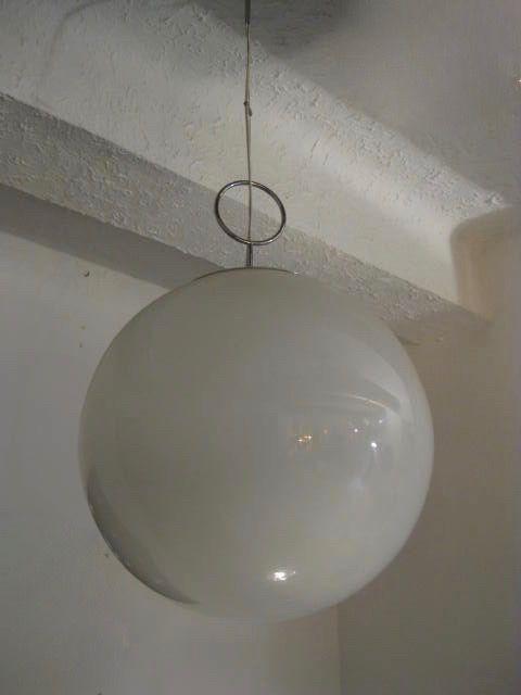 Italienische Opalglas Deckenlampe