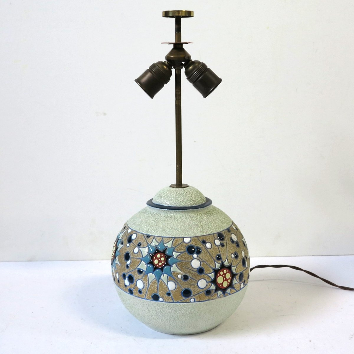 Art Deco Keramik Lampe von Amphora, 1930er