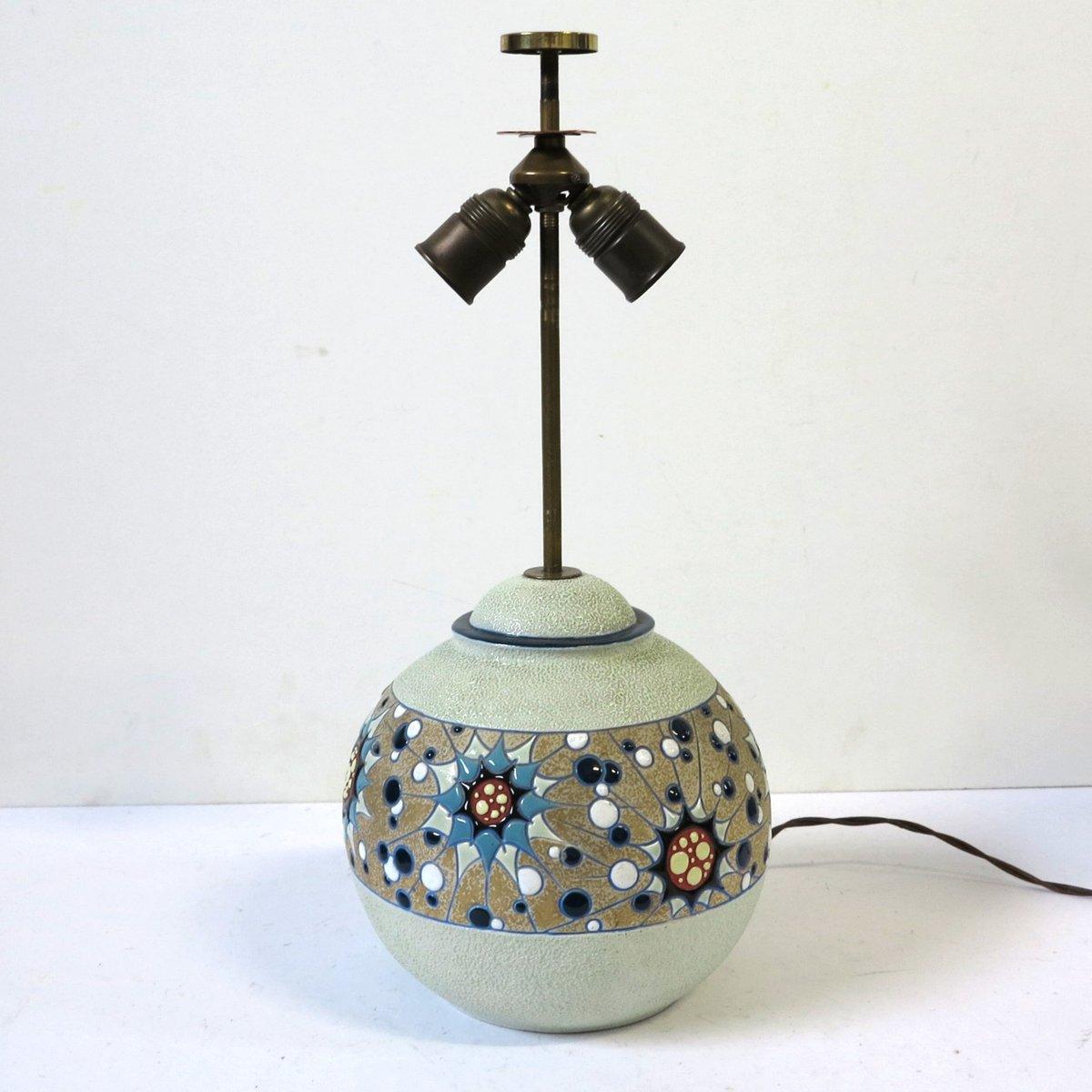 lampe art d co en c ramique de amphora 1930s en vente sur pamono. Black Bedroom Furniture Sets. Home Design Ideas