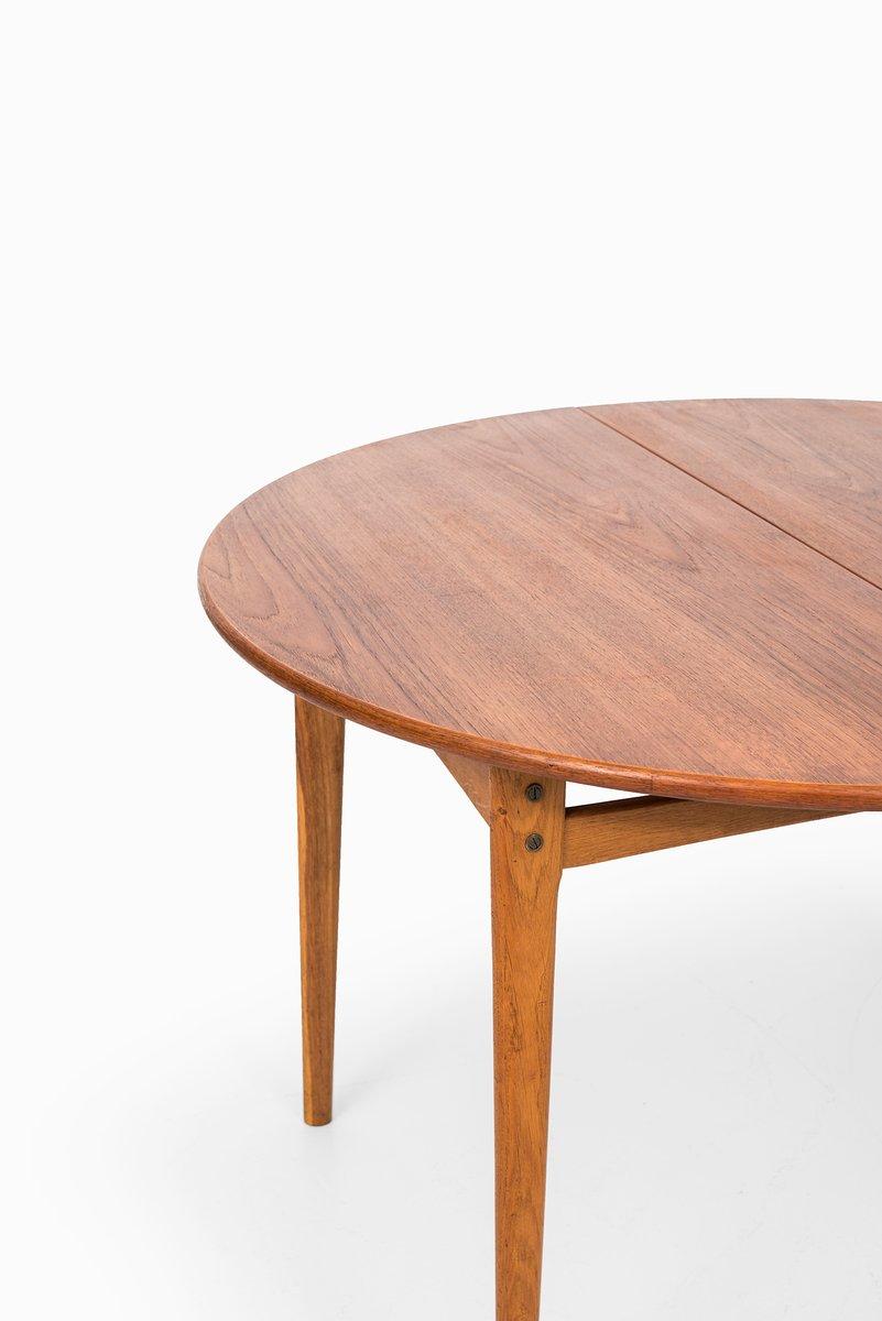 Table de salle manger en teck rallonge en vente sur pamono for Table de salle a manger en solde