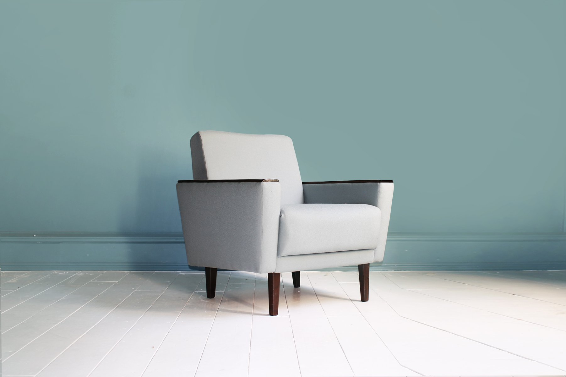 Dänische Sessel aus Naturstoff, 2er Set