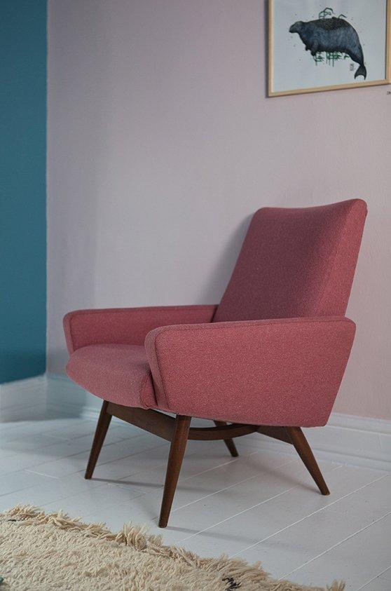 Sedia da camera Mid-Century, Danimarca in vendita su Pamono