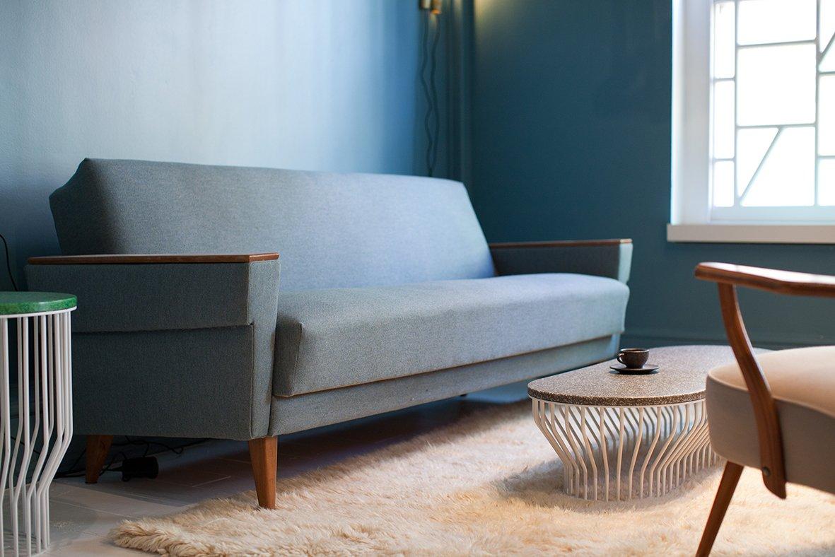 d nisches mid century sofa mit nachhaltigem bezug bei pamono kaufen. Black Bedroom Furniture Sets. Home Design Ideas