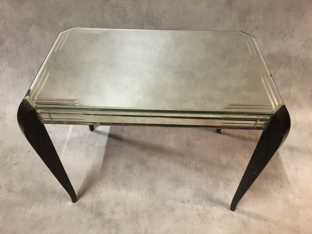 Beveled Glass Coffee Table From Mobiglace 1940s For Sale At Pamono