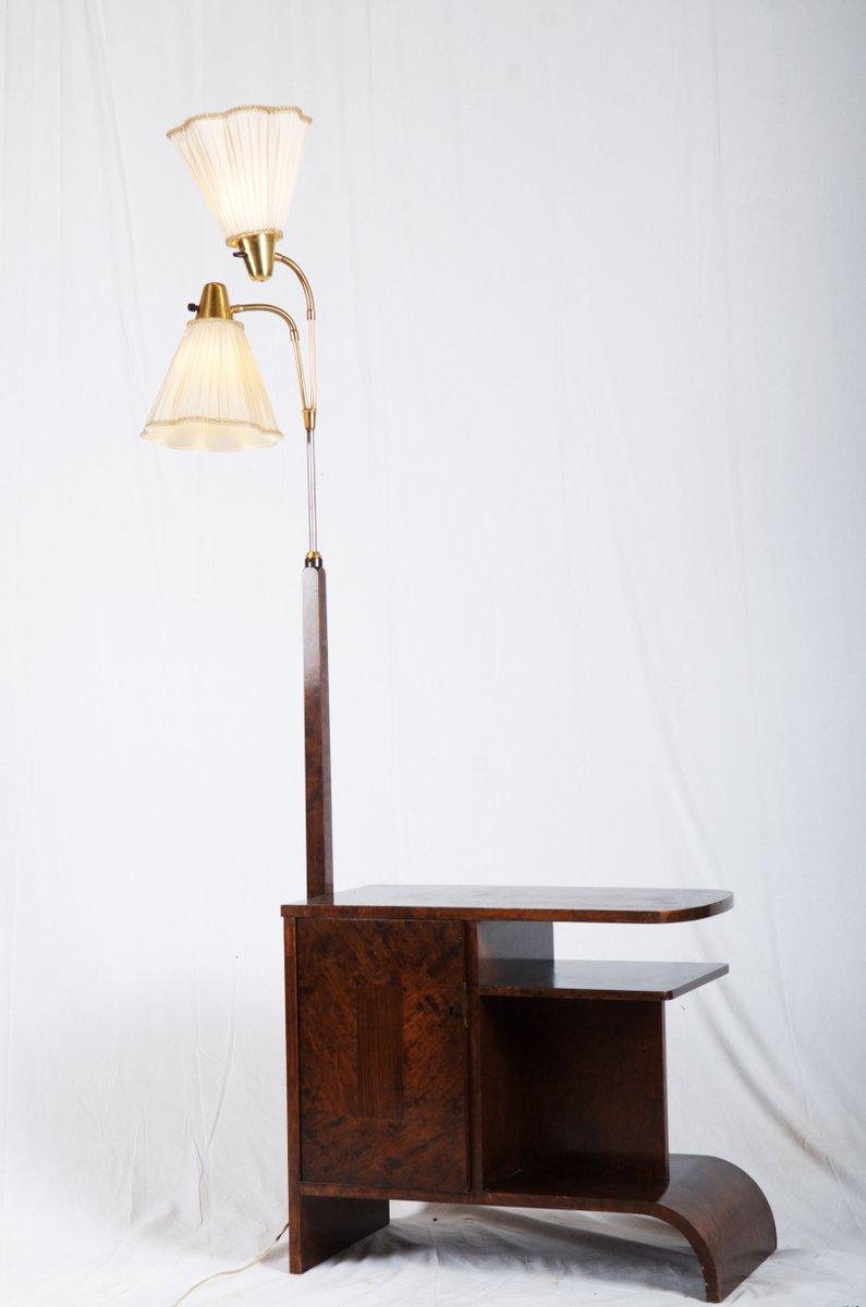 Art Deco Stehlampe mit Konsolentisch