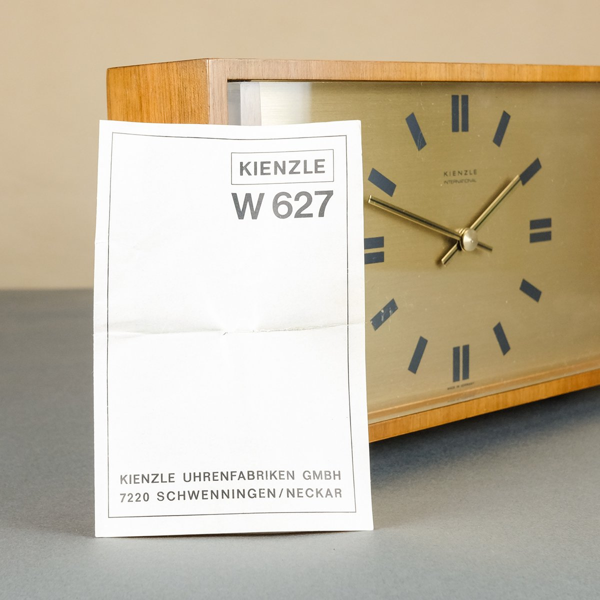 International Table Clock From Kienzle 1960s For Sale At Pamono